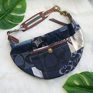 COACH Indigo Patchwork Blue Hobo Bag # 10019
